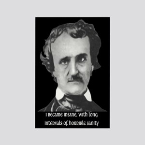 E. A. Poe Sanity Rectangle Magnet