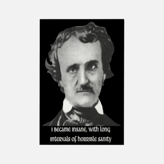 E. A. Poe Sanity Rectangle Magnet