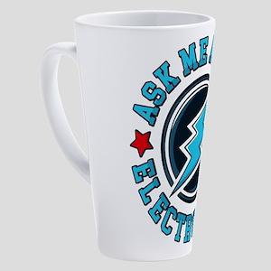 Ask Me About Electroneum 17 oz Latte Mug