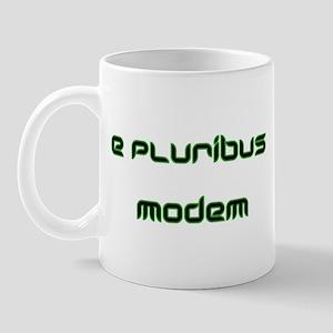 e pluribus modem Mug