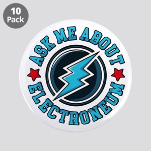 """Ask Me About Electroneum 3.5"""" Button (10 pack)"""