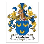 Monheim Family Crest Small Poster