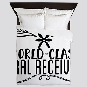 world-class oral receiver Queen Duvet