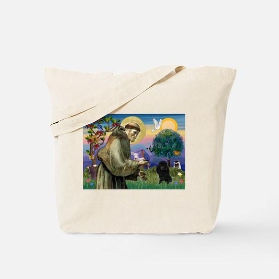 St. Francis & Black Poodle #2 Tote Bag