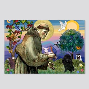 St. Francis & Black Poodle #2 Postcards (Package