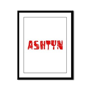 Ashtyn Faded (Red) Framed Panel Print