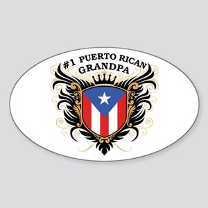 Number One Puerto Rican Grandpa Oval Sticker