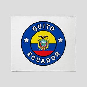 Quito Ecuador Throw Blanket