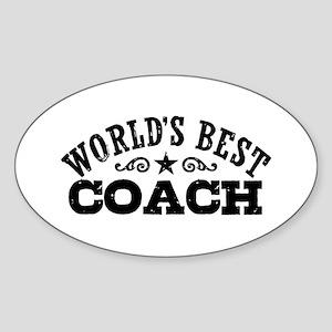 World's Best Coach Sticker (Oval)