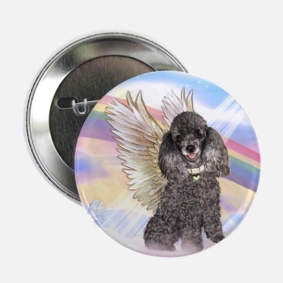 Silver Poodle Angel Button