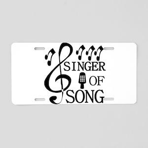 Singer Aluminum License Plate