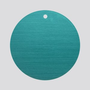 Brushed Teal Round Ornament