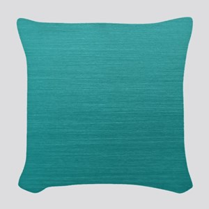 Brushed Teal Woven Throw Pillow