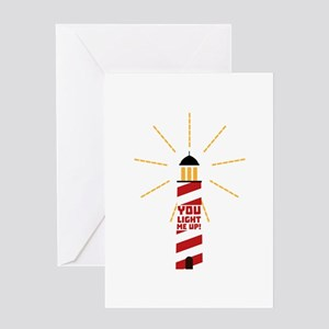 Lighthouse Light me up C7ll9 Greeting Cards