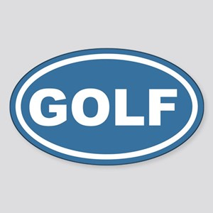 Blue Golf Euro Oval Sticker