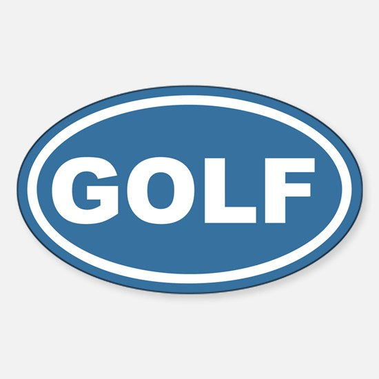 Blue Golf Euro Oval Decal