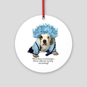 Monday Morning Bulldog Ornament (Round)