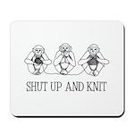 Shut Up and Knit Monkey Mousepad