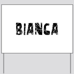Bianca Faded (Black) Yard Sign