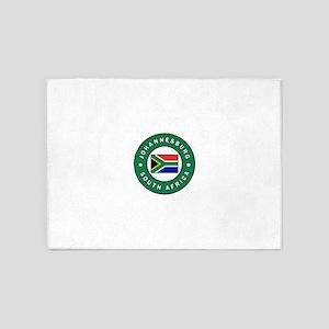 Johannesburg South Africa 5'x7'Area Rug