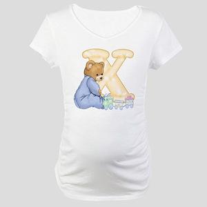 Teddy Alphabet X Yellow Maternity T-Shirt