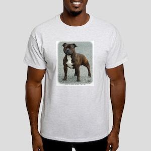 Staffordshire Bull Terrier 9F23-12 Light T-Shirt