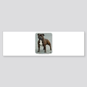 Staffordshire Bull Terrier 9F23-12 Sticker (Bumper