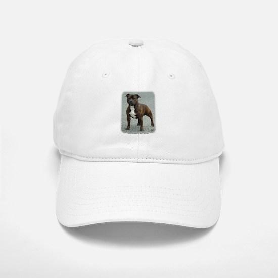 Staffordshire Bull Terrier 9F23-12 Baseball Baseball Cap