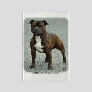 Staffordshire Bull Terrier 9F23-12 Rectangle Magne