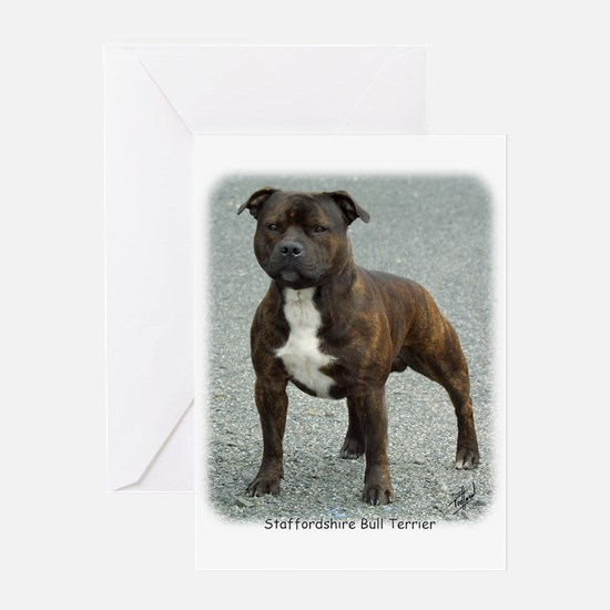 Staffordshire Bull Terrier 9F23-12 Greeting Card