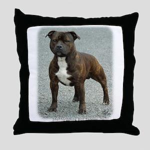Staffordshire Bull Terrier 9F23-12 Throw Pillow