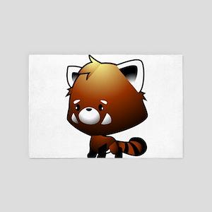 Kawaii Red Panda 4' x 6' Rug
