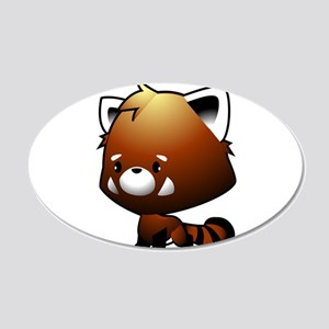 Kawaii Red Panda Wall Decal