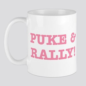 Puke & Rally Quote - Pink Imp Mug