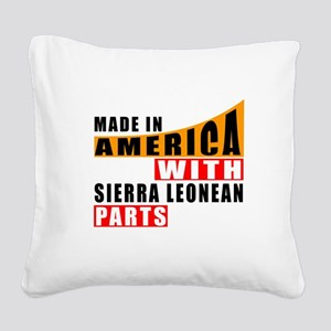 Made In America With Sierra L Square Canvas Pillow