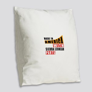 Made In America With Sierra Le Burlap Throw Pillow