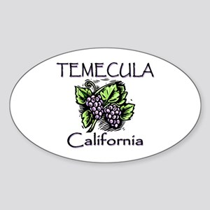 Temecula Grapes Sticker (Oval)