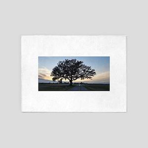 Old Oak Tree 5'x7'Area Rug