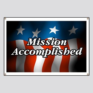 Mission Accomplished Banner
