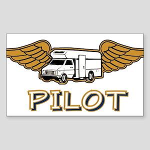 RV Pilot Rectangle Sticker