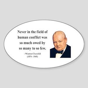 Winston Churchill 12 Oval Sticker