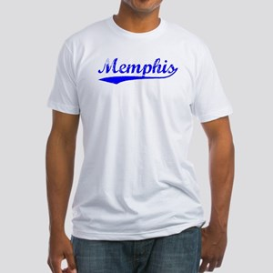 Vintage Memphis (Blue) Fitted T-Shirt