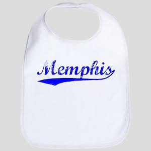 Vintage Memphis (Blue) Bib
