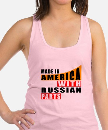 Made In America With Russian Pa Racerback Tank Top