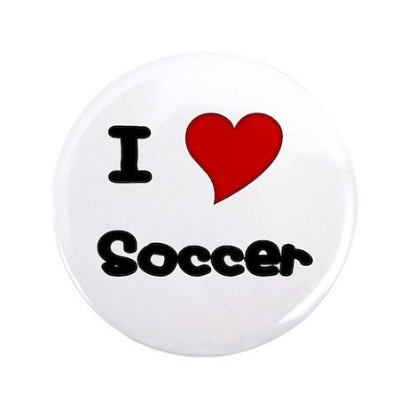 "I Love (heart) Soccer 3.5"" Button"