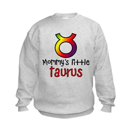 Mommy's Little Taurus Kids Sweatshirt
