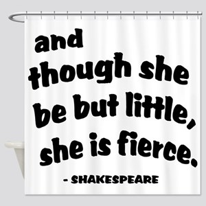 Shakespeare Quote Shower Curtain