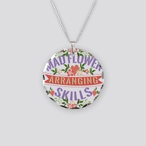 Mad Flower Arranging Skills Necklace Circle Charm