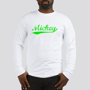 Vintage Mickey (Green) Long Sleeve T-Shirt