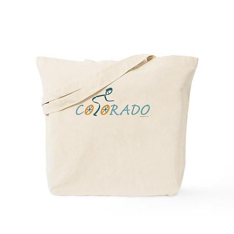 Bike Colorado Tote Bag
